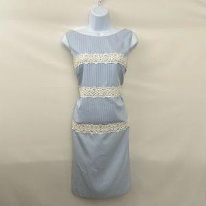 London Times PLUS SIZE 14 Stripe MIDI Dress L-77